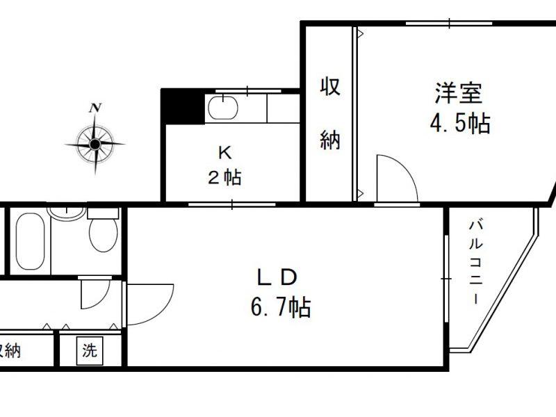 1LDKタイプ(403号室)