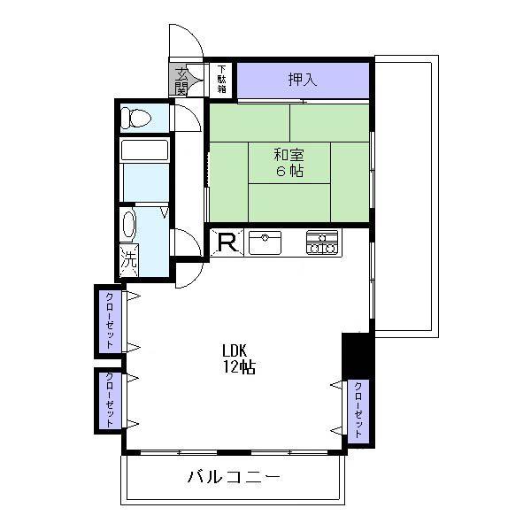 間取り図 6階部分